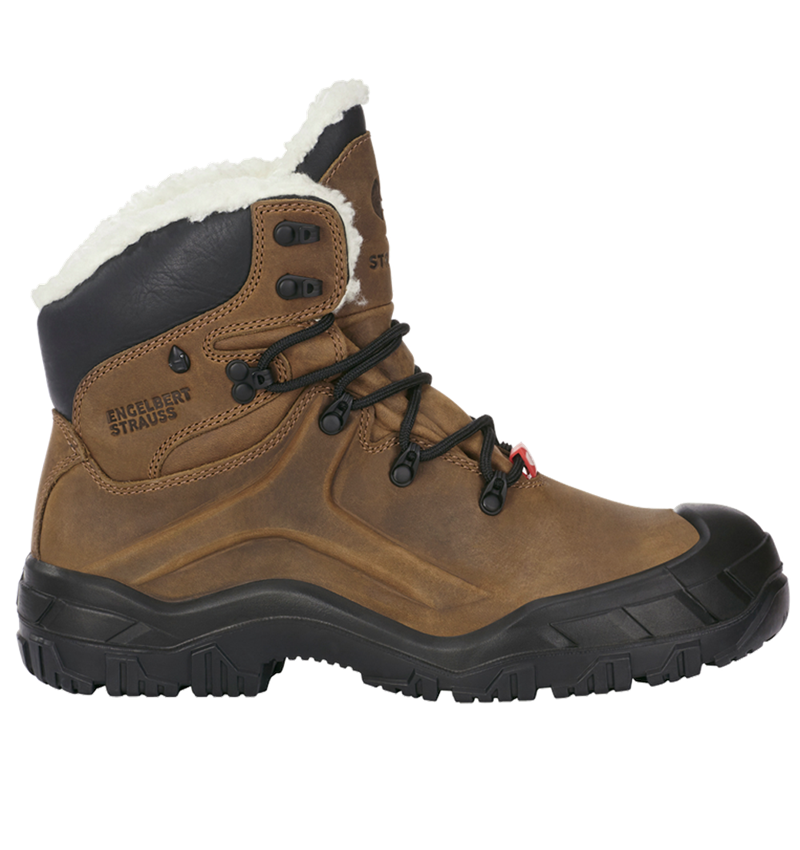 S3: e.s. S3 Safety boots Polaris mid + brown