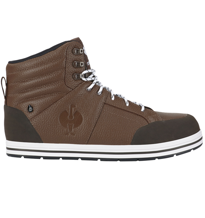 S3: S3 Safety boots e.s. Spes II mid + chestnut