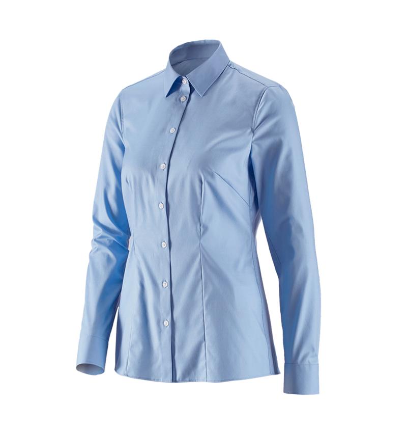 Shirts, Pullover & more: e.s. Business blouse cotton str. lad. regular fit + frostblue