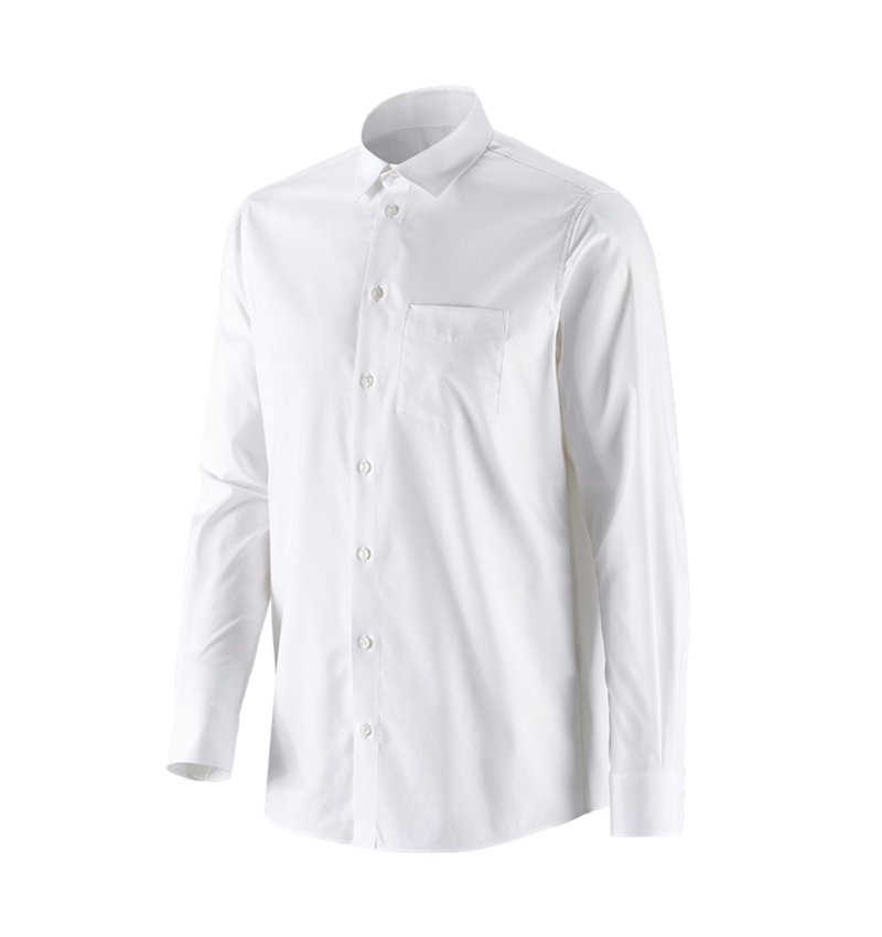Shirts, Pullover & more: e.s. Business shirt cotton stretch, comfort fit + white