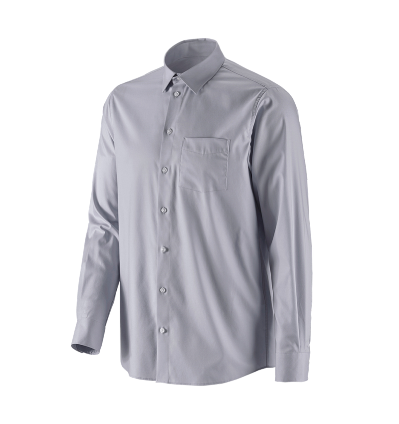 Shirts, Pullover & more: e.s. Business shirt cotton stretch, comfort fit + mistygrey
