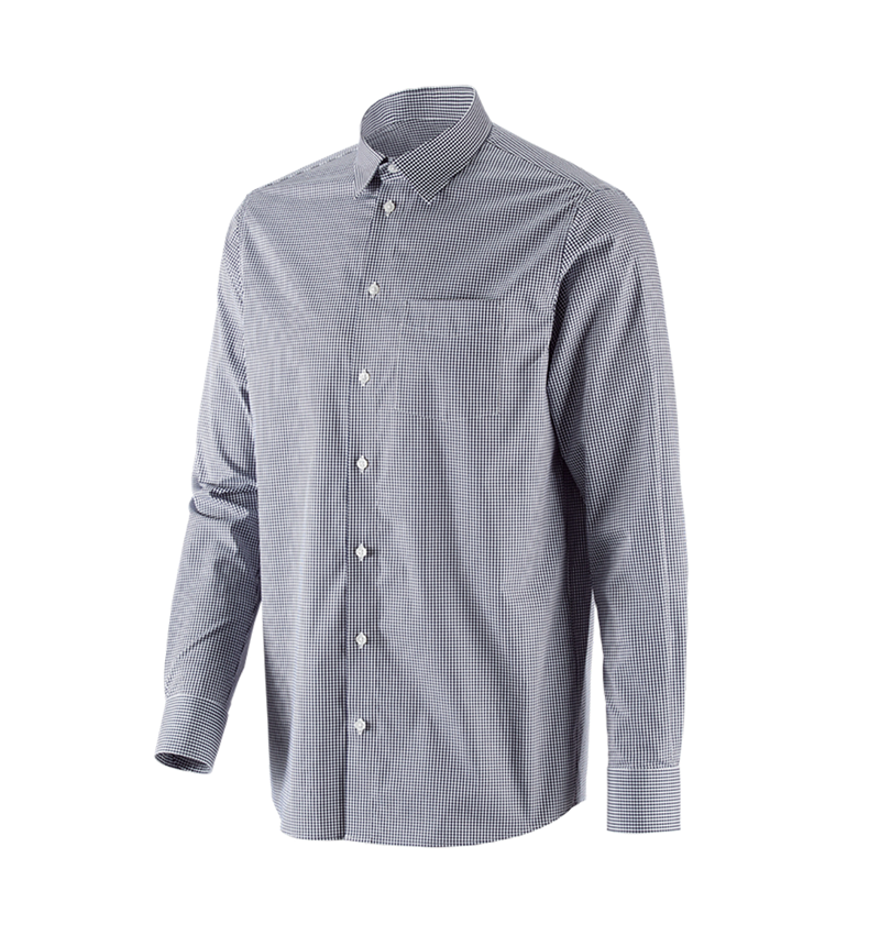 Shirts, Pullover & more: e.s. Business shirt cotton stretch, comfort fit + navy checked