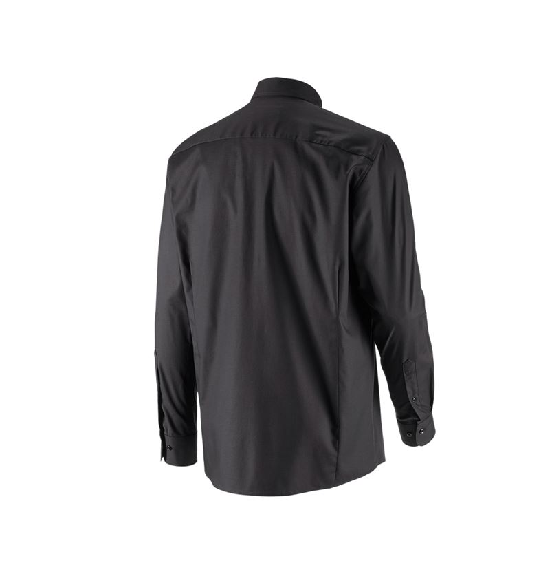 Shirts, Pullover & more: e.s. Business shirt cotton stretch, comfort fit + black 3