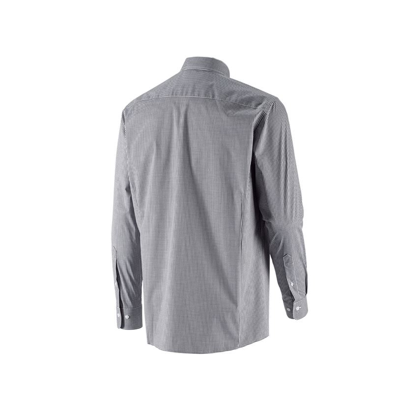 Shirts, Pullover & more: e.s. Business shirt cotton stretch, comfort fit + black checked 3