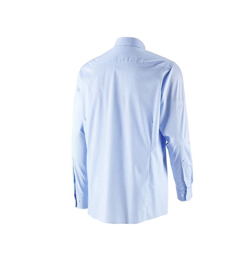 Shirts, Pullover & more: e.s. Business shirt cotton stretch, comfort fit + frostblue checked 3