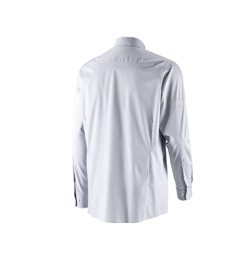 Shirts, Pullover & more: e.s. Business shirt cotton stretch, comfort fit + mistygrey checked 3