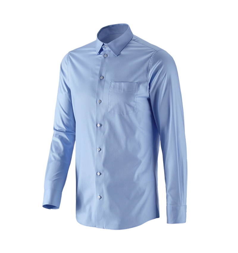 Shirts, Pullover & more: e.s. Business shirt cotton stretch, slim fit + frostblue