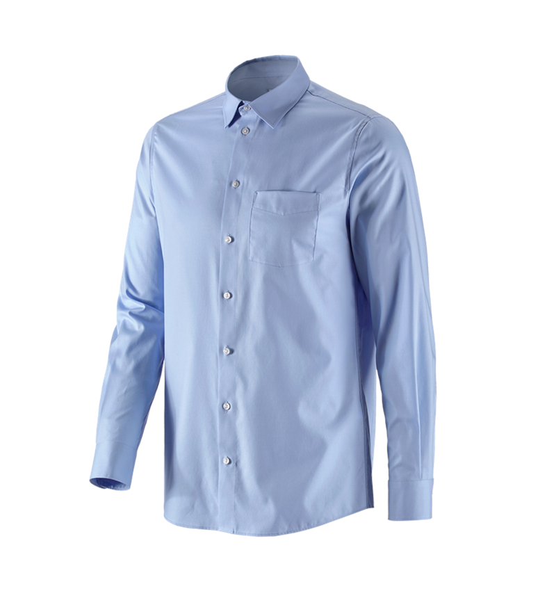Shirts, Pullover & more: e.s. Business shirt cotton stretch, regular fit + frostblue