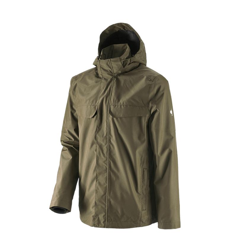Work Jackets: Rain jacket e.s.concrete + mudgreen