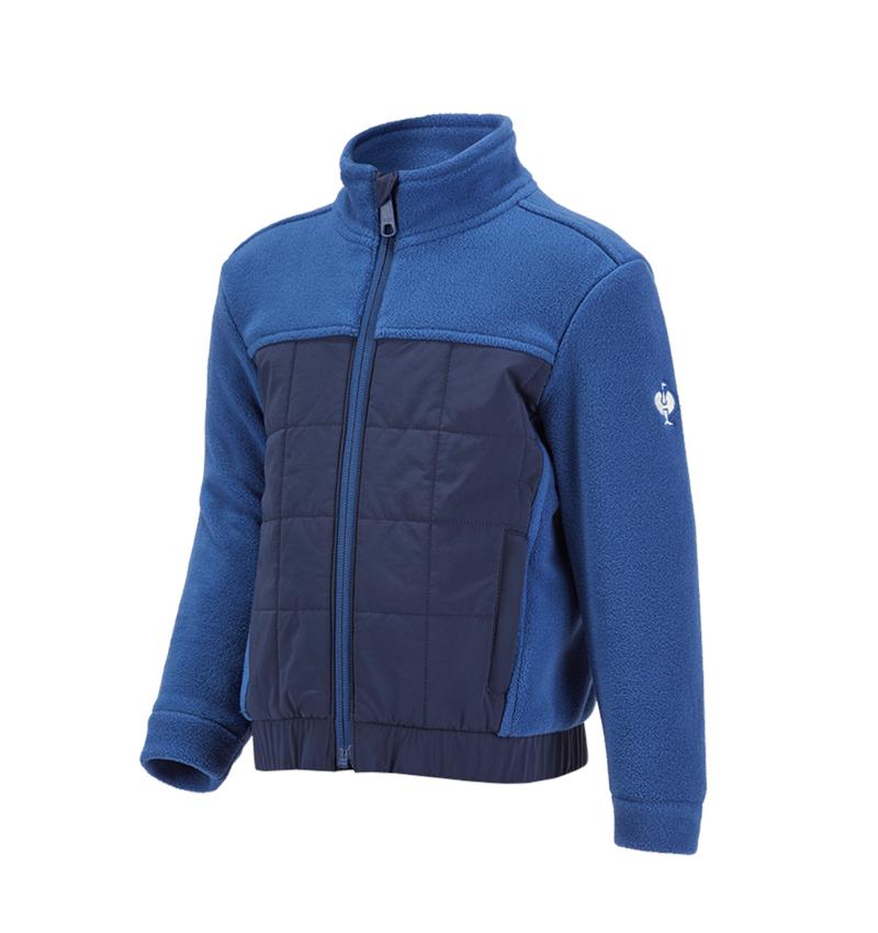 Jackets: Hybrid fleece jacket e.s.concrete, children's + alkaliblue/deepblue