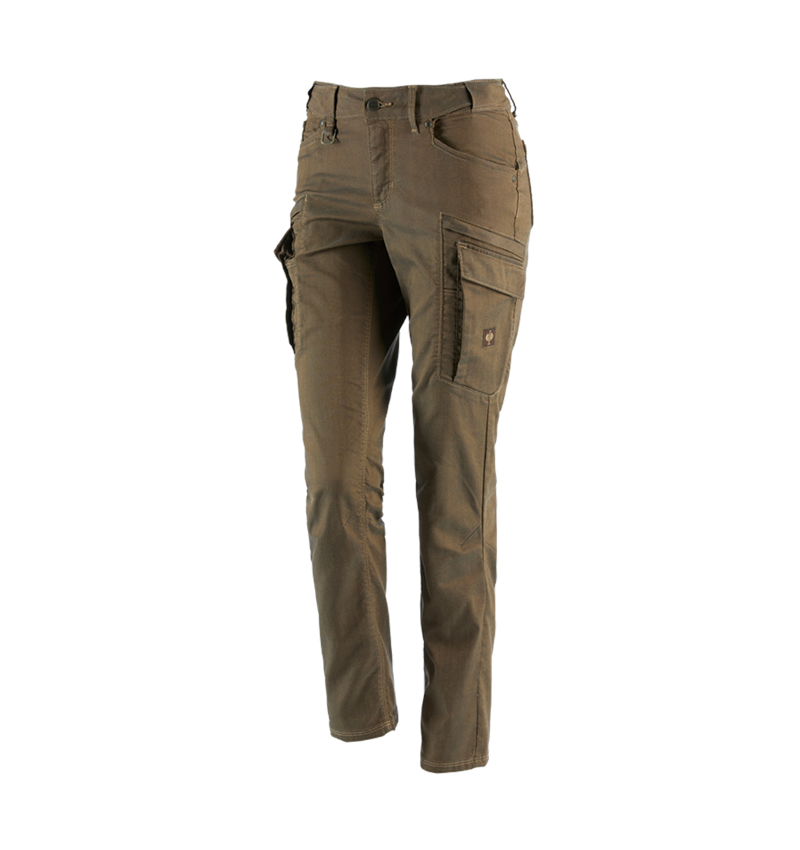 Work Trousers: Cargo trousers e.s.vintage, ladies' + sepia