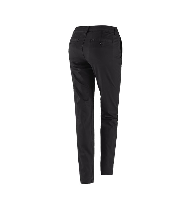 Work Trousers: e.s. 5-pocket work trousers Chino, ladies` + black 2