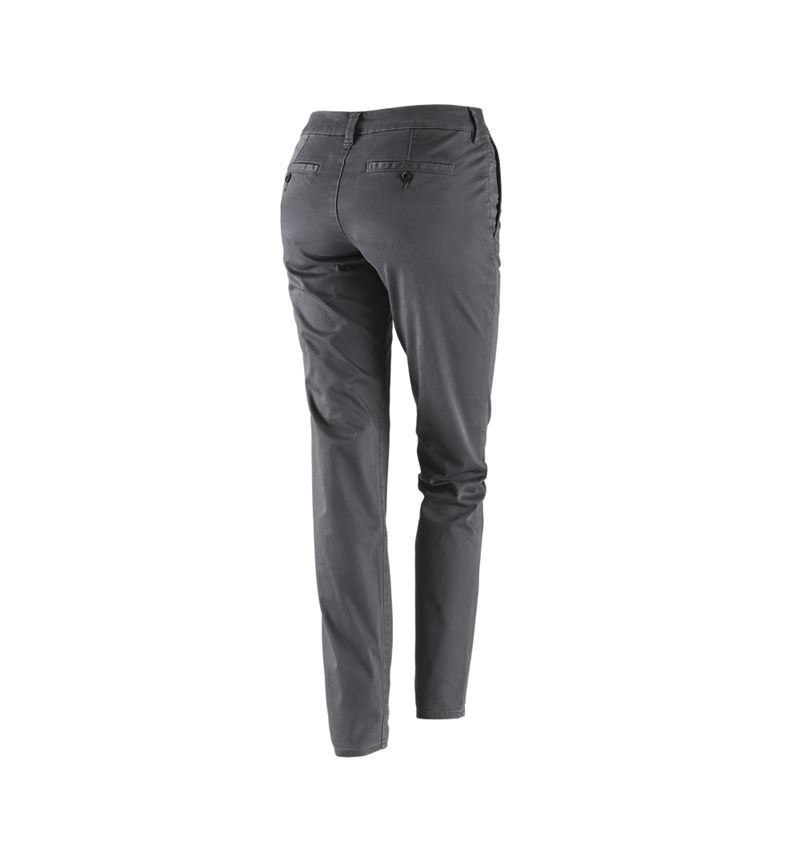 Work Trousers: e.s. 5-pocket work trousers Chino, ladies` + anthracite 2