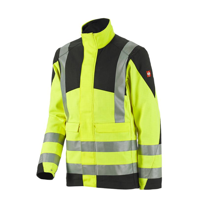 Work Jackets: e.s. Work jacket multinorm high-vis + high-vis yellow/black