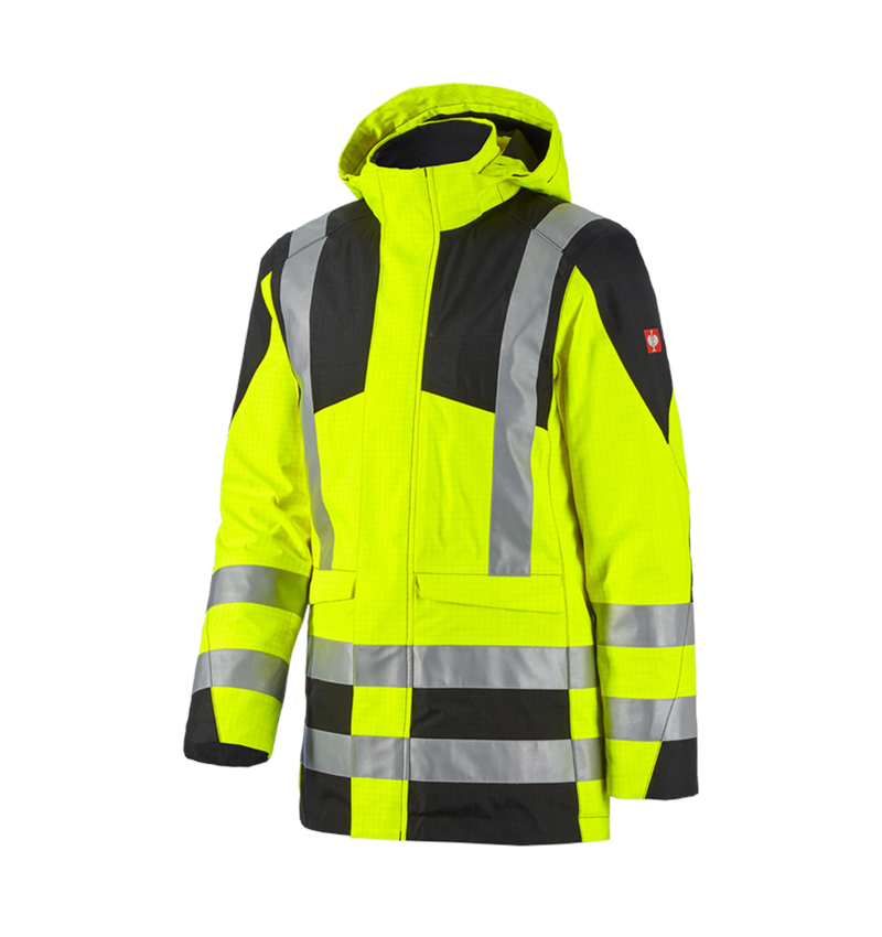 Work Jackets: e.s. Weatherproof parka multinorm high-vis + high-vis yellow/black