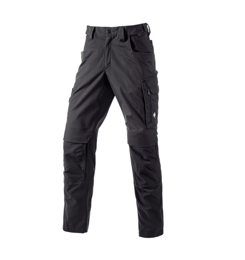 Work Trousers: Trousers e.s.concrete solid + black