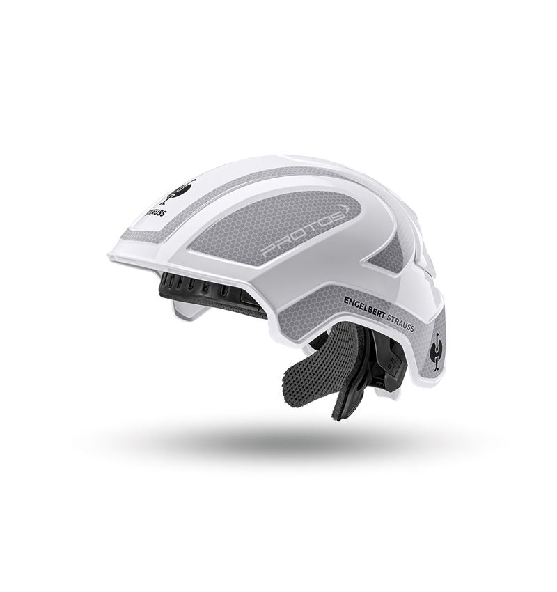 Hard Hats: e.s. Work helmet Protos® + white/platinum