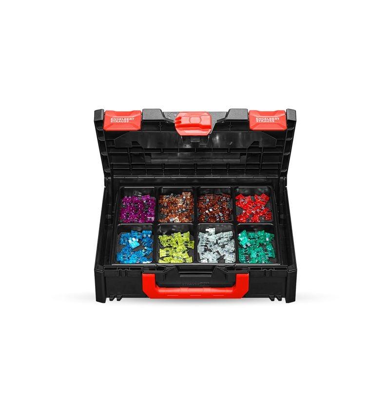Assorted small parts: Flat fuse assortment in STRAUSSbox 118 midi