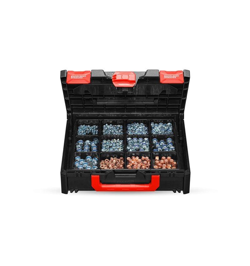 Nuts: Hex nuts DIN 985 in STRAUSSbox 118 midi