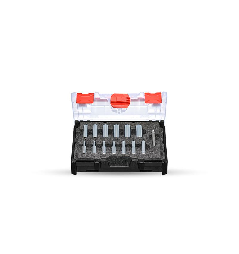 Socket wrench: Socket wrench set 1/4 long in STRAUSSbox mini