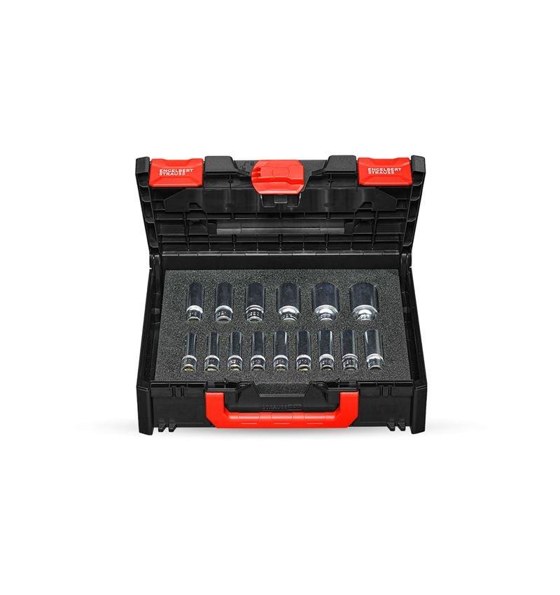 "Socket wrench: Socket wrench set 1/2"" long in STRAUSSbox 118 midi"