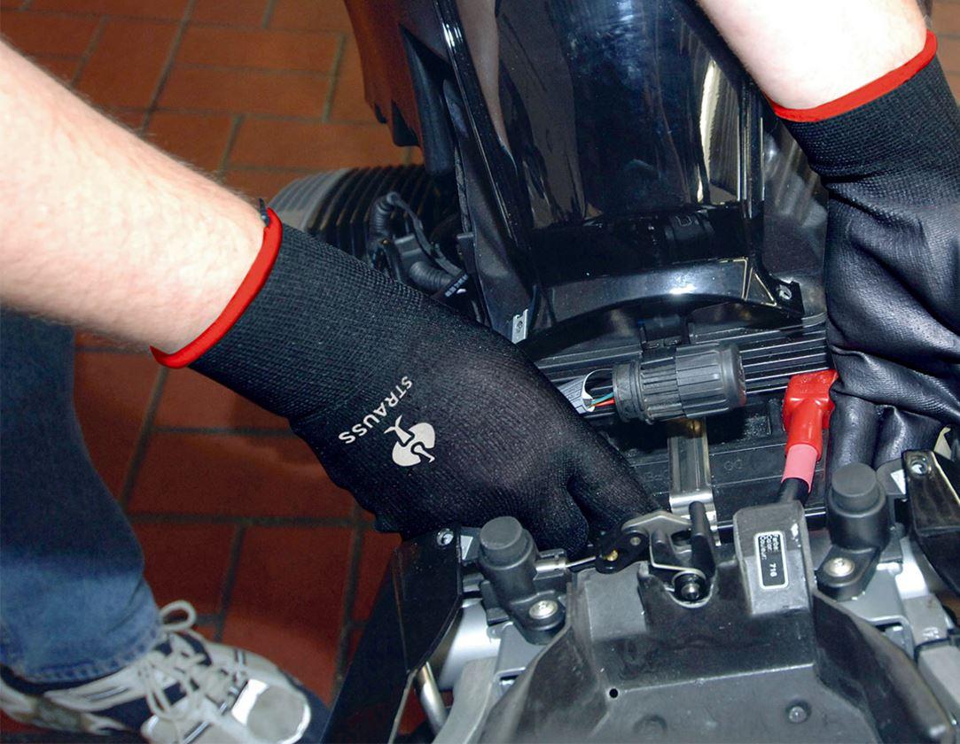 Coated: PU micro gloves + black