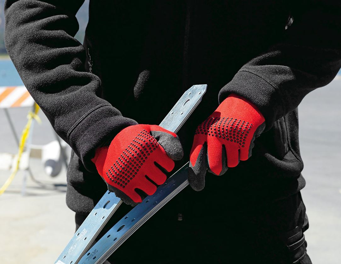 Coated: Latex knitted gloves Techno Grip
