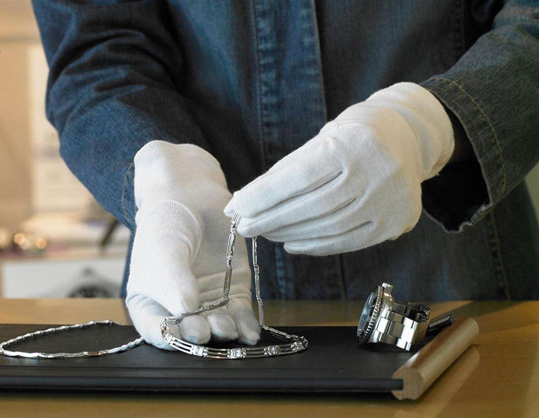 Textile: Cotton fourchette gloves, white, pack of 12 + white 1