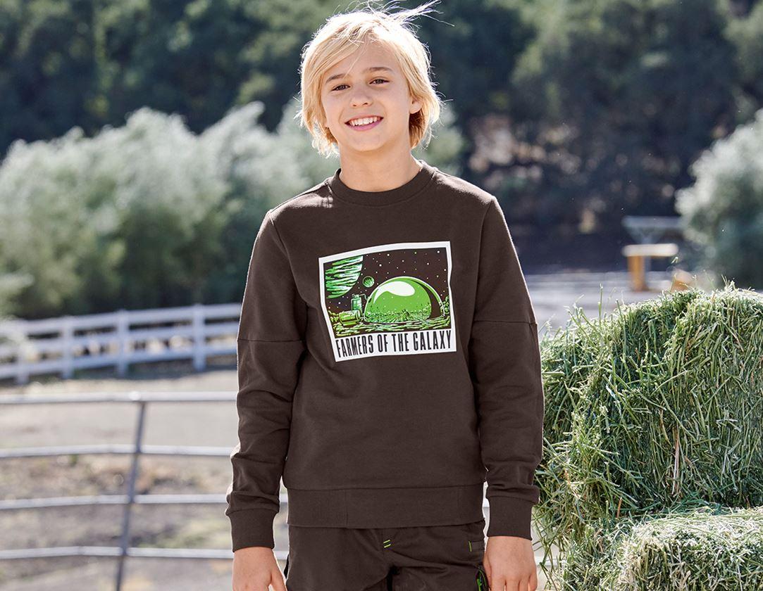 Shirts, Pullover & more: e.s. Sweatshirt Mission 2020, children's + chestnut