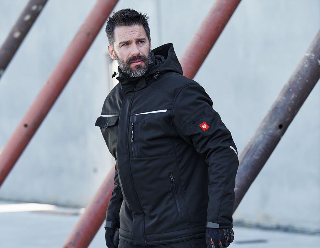 Work Jackets: Softshell jacket e.s.motion + black