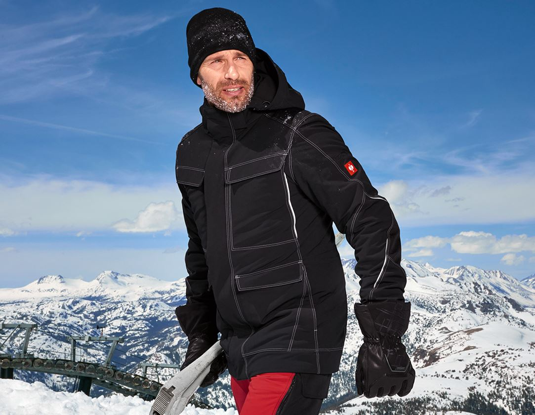 Work Jackets: Functional parka snow e.s.dynashield + black