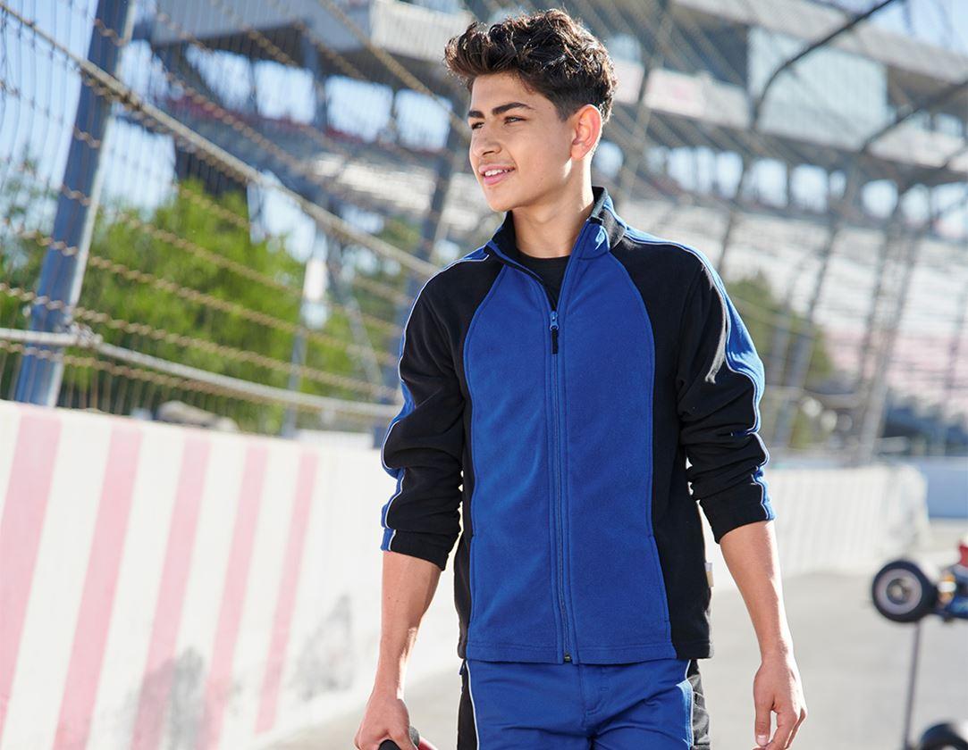 Jackets: Children's microfleece jacket dryplexx® micro + royal/black