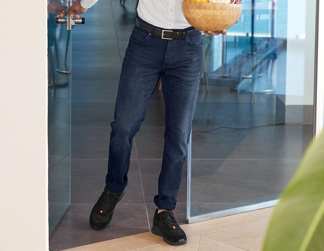 Work Trousers: e.s. 5-pocket jeans jog-denim + darkwashed 1