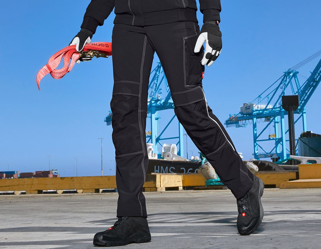 Work Trousers: Functional trousers e.s.dynashield, ladies' + black