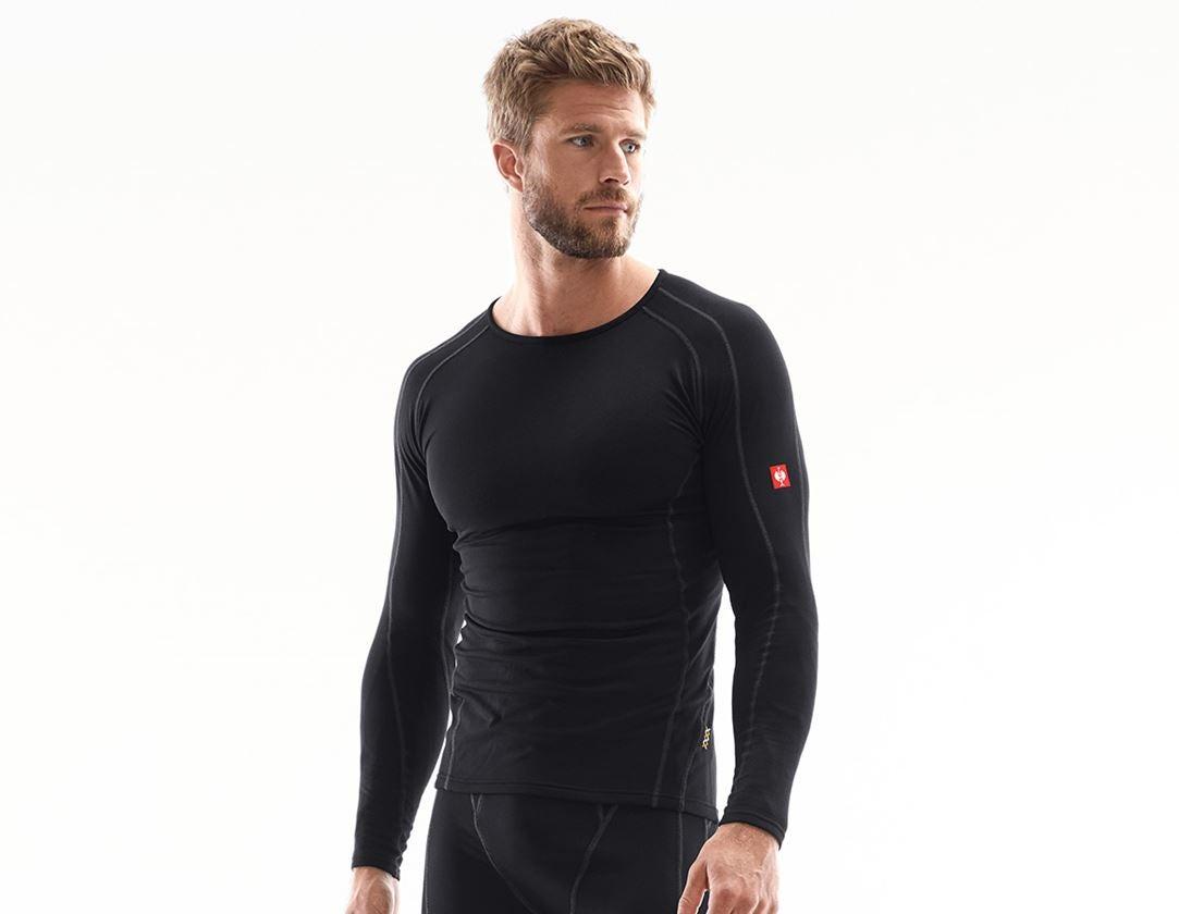 Underwear   Functional Underwear: e.s. functional-longsleeve clima-pro,warm, men's + black