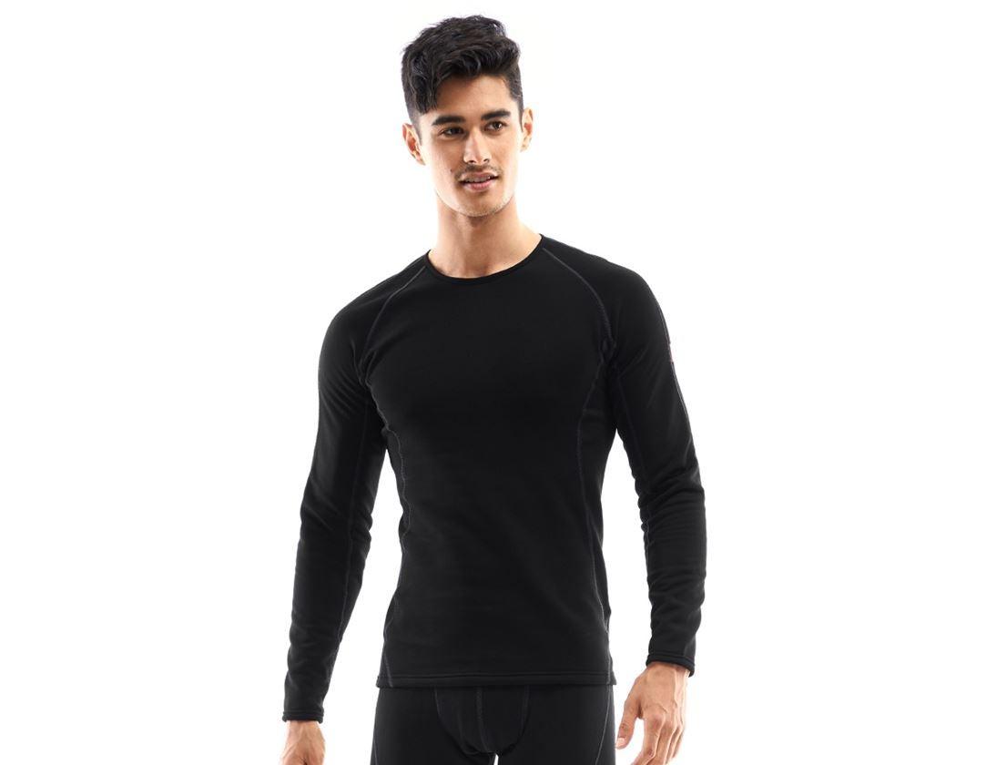 Underwear | Functional Underwear: e.s. functional-longsleeve thermo stretch-x-warm + black