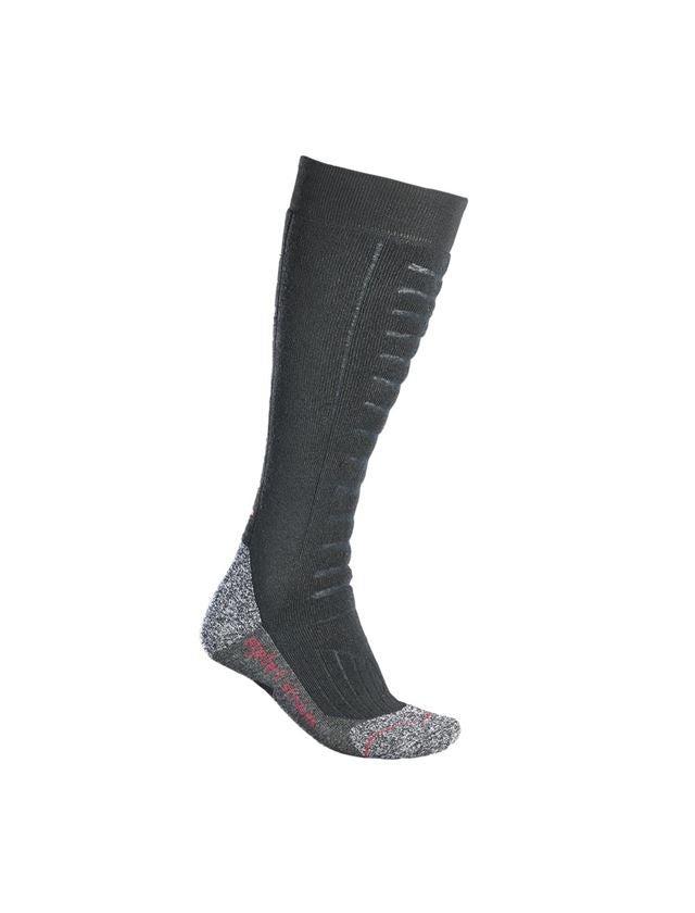 Socks: e.s. Allround socks function x-warm/x-high + black
