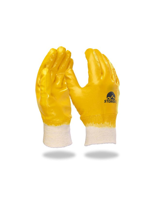 Coated: Nitrile gloves Basic, fully coated,pack of 12