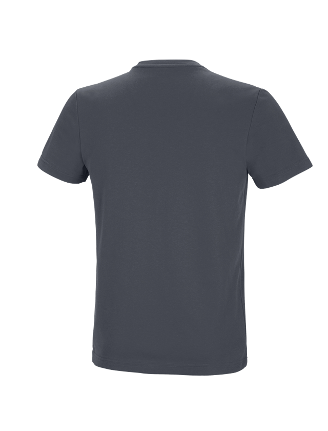 Shirts, Pullover & more: e.s. Functional T-shirt poly cotton + anthracite 1