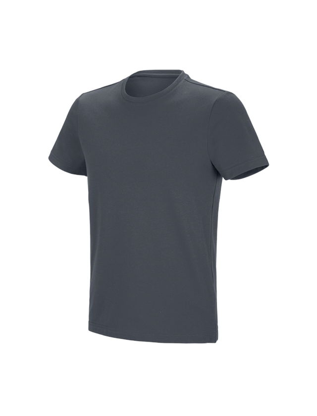 Shirts, Pullover & more: e.s. Functional T-shirt poly cotton + anthracite