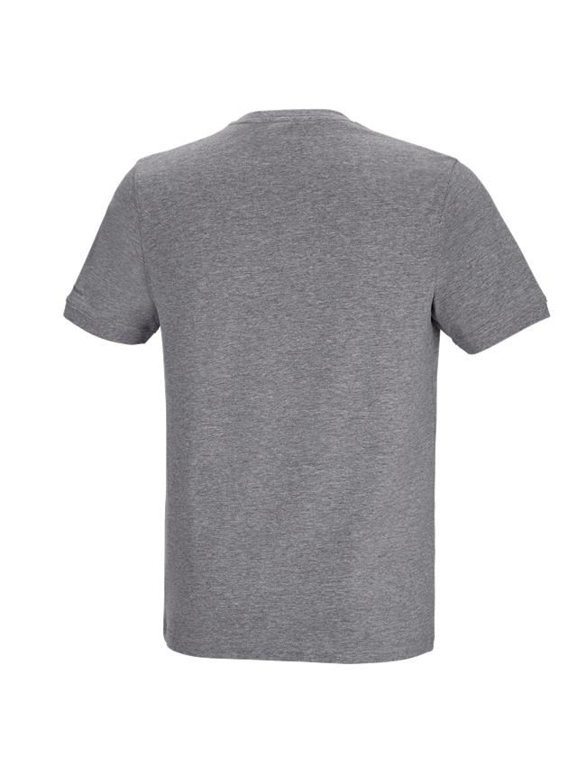 Shirts, Pullover & more: e.s. T-shirt cotton stretch Pocket + grey melange 1