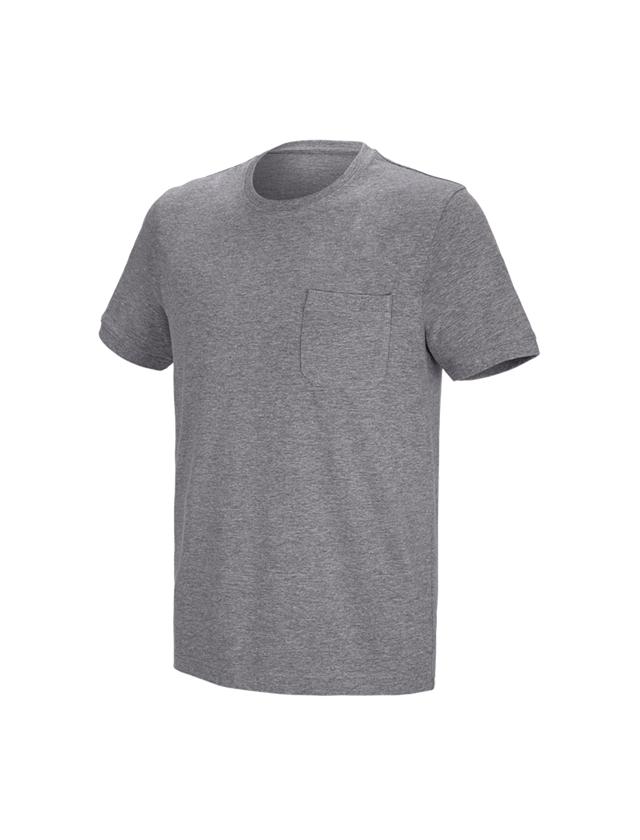 Shirts, Pullover & more: e.s. T-shirt cotton stretch Pocket + grey melange