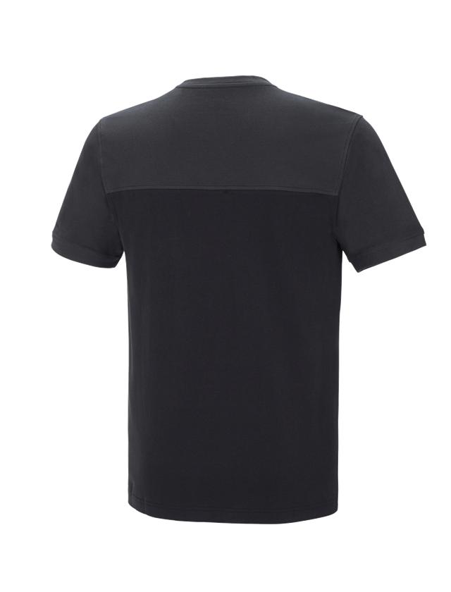 Shirts, Pullover & more: e.s. T-shirt cotton stretch bicolor + black/graphite 2