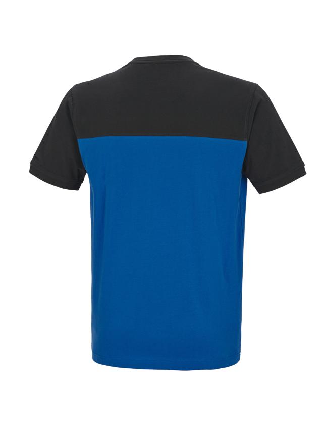 Shirts, Pullover & more: e.s. T-shirt cotton stretch bicolor + gentian blue/graphite 1
