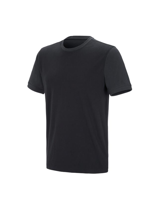 Shirts, Pullover & more: e.s. T-shirt cotton stretch bicolor + black/graphite