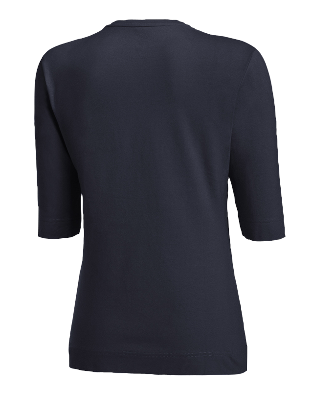 Shirts, Pullover & more: e.s. Shirt 3/4 sleeve cotton stretch, ladies' + navy 1