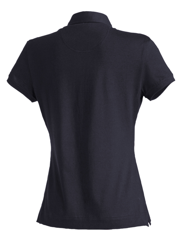 Shirts, Pullover & more: e.s. Polo shirt cotton stretch, ladies' + navy 1