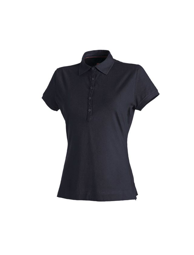 Shirts, Pullover & more: e.s. Polo shirt cotton stretch, ladies' + navy