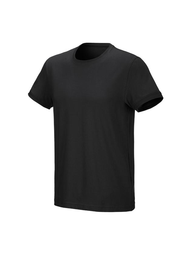 Shirts, Pullover & more: e.s. T-shirt cotton stretch + black