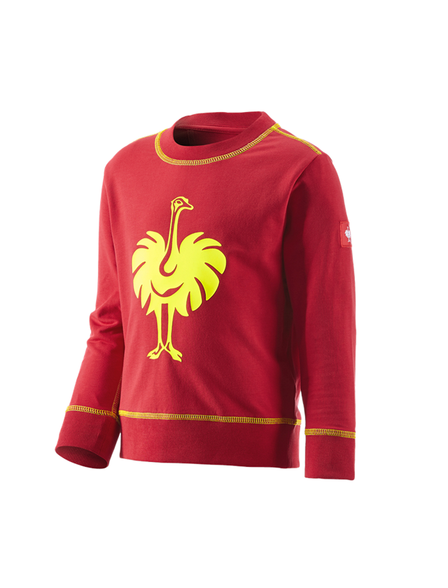 Shirts, Pullover & more: Sweatshirt e.s.motion 2020, children's + fiery red/high-vis yellow